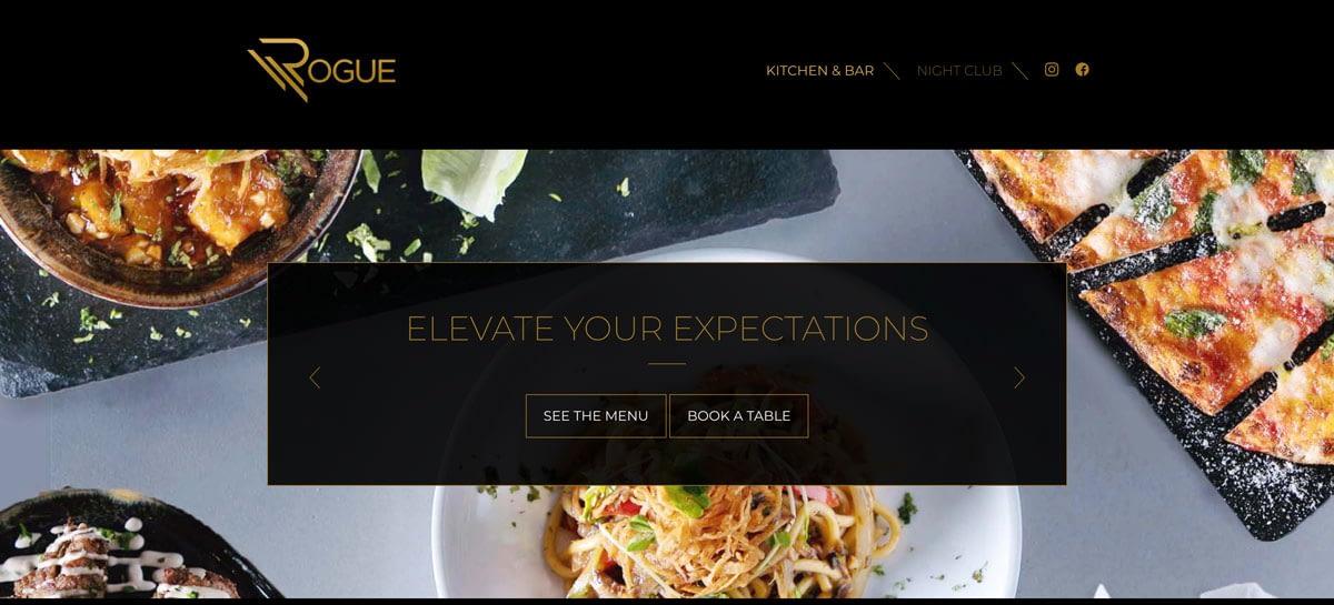 Rogue Bar Website Design
