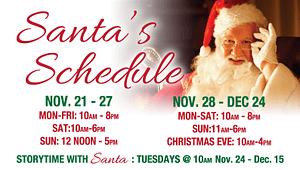 Santa schedule website slider Windsor Graphic Design