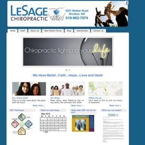 Lesage Chiropractic Website