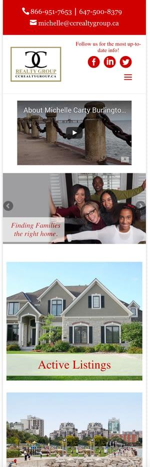 Michelle Carty Real Estate Website Design Cm2 Media Burlington