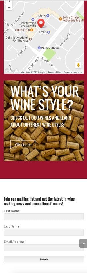 Wines Unlimited website design
