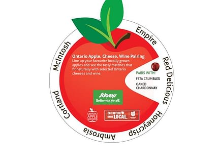 Print Marketing Apple Wheel Sobeys Ontario Apple Growers