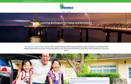 Burlington Facebook-Campaign-one-Page-website