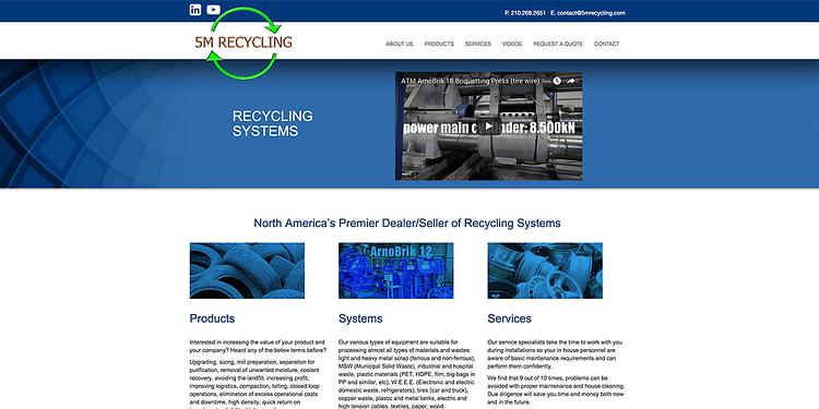 5M- recylcing website design burlington oakville san-antonio 5M recycling website oakville burlington san-antonio