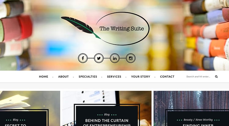 The writing Suite website