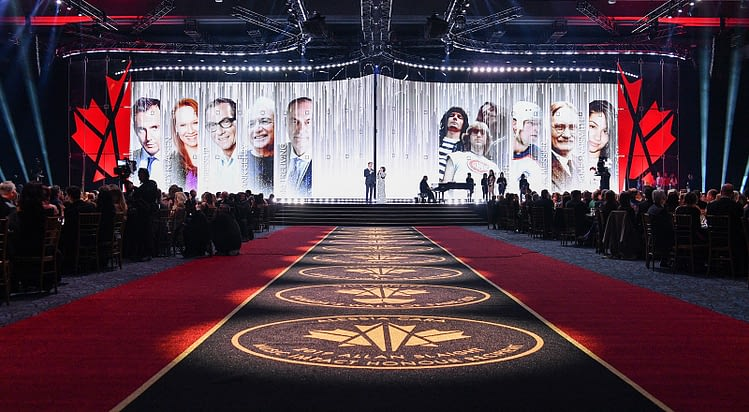 Canada's Walk of Fame image showing the stage at the 2019 awards show