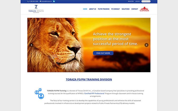 Toraza Zenith Business Website 