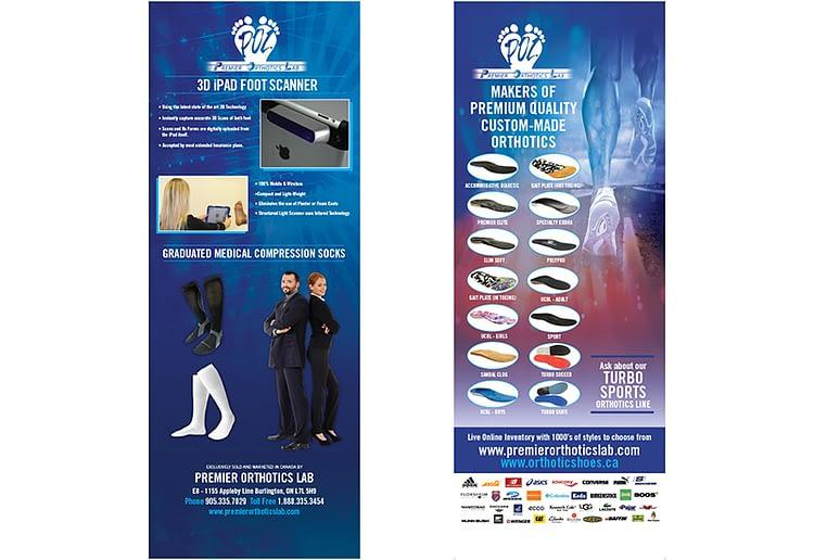 premier-orthotics-lab-pop-up-banner-graphic-design||