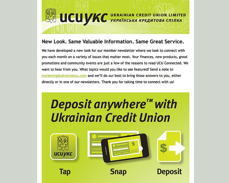 e-mail-marketing-ukrainian-credit-union-cm2-media-oakville-burlington