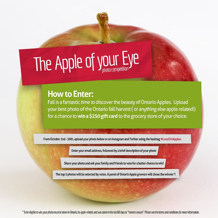 Apple of your eye facebook contest